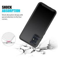 Samsung Galaxy A51 5G Hybrid Shockproof Armor Bumper Rubber TPU Case Clear Cover