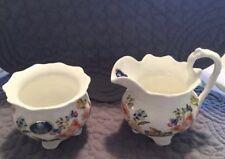 Aynsley English China - Cottage Garden - Mini Creamer & Open Sugar Bowl