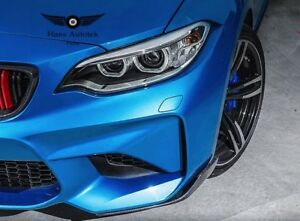 CARBON FRONT LIP BUMPER SPPLITERS M-PERFORMANCE STYLE FOR BMW M2 F87  2016-UP