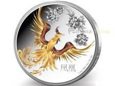 2 $ Dollar Feng Shui Phoenix Niue Island 1 oz Silber PP Proof 2015
