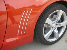2010-2014 Camaro Fender Gills Louvers Inserts Trim Ver2 Mirror Stainless Steel!