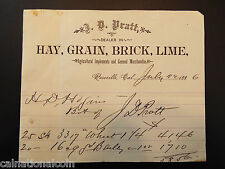 J.D. Pratt Agricultural Implements and General Merchandise Invoice 1886