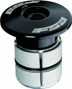 """FSA Compressor 1"""" Black Expander Plug and Top Cap for Carbon Steerer Tubes"""