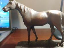 Armor Bronze Horse Bookends Damaged 1 horse