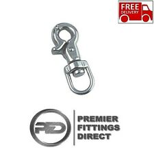 DOG LEAD CLIP/HOOK - STAINLESS STEEL SWIVEL WITH RELEASE CLIP (DOG LEAD/HARNESS)