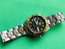 Vintage Seiko 5 Sports Automatic Watch for Men 23 Jewels, Day/Date  japan made,