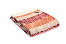 Tweedmill Textiles Sofá-Cama Manta 100% lana pura-Ondulación Rústico Naranja