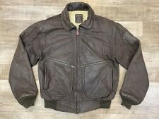 VTG Hein Gericke Brown Leather Motorcycle Bomber Jacket Sz S/M
