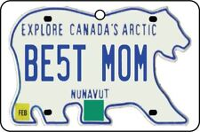 NUNAVUT - BEST MOM LICENSE PLATE CAR AIR FRESHENER