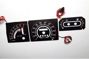 Ford Escort MK4 Turbo Version glow gauges dials plasma dials kit tacho glow dash