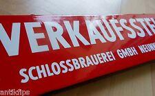 Schlossbrauerei Neunkirchen altes Emailschild 50er Jahre TOP