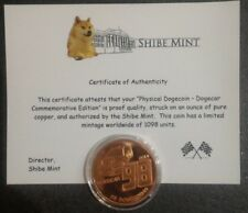 Moneta commemorativa Dogecoin Nascar n° 98 con certificato di autenticità 1098