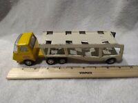 TONKA MINI CAR CARRIER Vintage 1970's Yellow White Pressed
