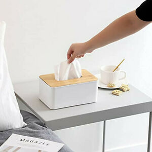 Wooden Tissue Box Holder Cover,Rectangular Paper Holder Boxes
