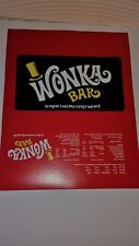 1 WONKA CHOCOLATE BAR Wrapper +1 GOLDEN TICKET (Chocolate not included)