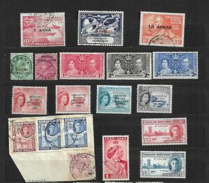 Somaliland Stamps Collection of 19 Nice Stamps - Used and Mint Selection
