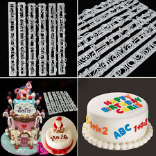 6 PCS Set Cute Letters & Numbers Cake Shape Embossing Stencil Decoration Cutter