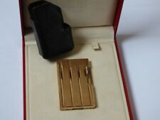 S T Dupont Line 1 Lighter - Gold Plated - comes Boxed with Papers + Leather Case