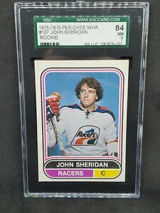 1975-76 O-Pee-Chee WHA #107 John Sheridan SGC 7 NM RARE !!