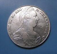 RRR! AUSTRIA ÖSTERREICH Maria Theresa silver Thaler Taler 1780 VERY RARE VARIANT