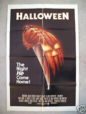 HALLOWEEN * 1978 ORIGINAL MOVIE POSTER 1SH MICHAEL MYERS MASK THE THING FOG NM-M