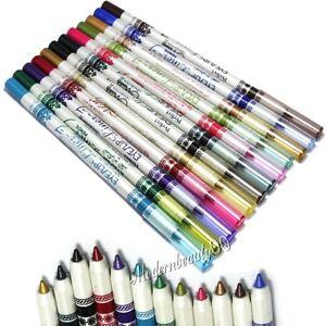 12 Color Lip Eyebrow Liner Eyeliner  Pen Pencil Cosmetic Makeup Eye Liner Set