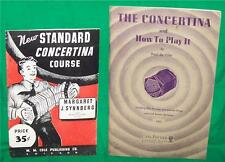 1905 CONCERTINA HOW TO PLAY IT OLD PAPER BOOK MUSIC LESSON SQUEEZE BOX ACCORDIAN