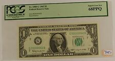 1963 $1 Federal Reserve Note, PCGS 68 PPQ, G00000062B