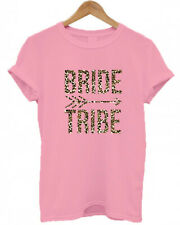 BRIDE TRIBE, LEOPARD PRINT, animal print, arrow, HEN DO NIGHT PARTY T SHIRT