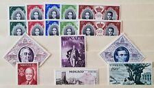 Monaco Mint Nh Accumulation #354/370. Scott: +$12.35