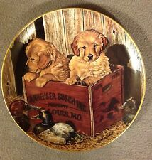BUDWEISER MAN'S BEST FRIENDS PLATE COLLECTION -First Issue BUDDIES -1990