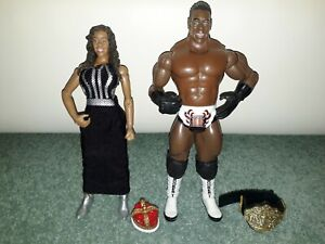 WWE RA Queen Sharmell & King Booker T Wrestling Action Figures Jakks
