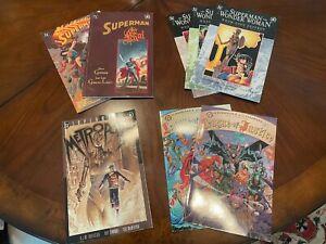 Superman and JLA ELSEWORLDS Graphic Novel Lot 8-Book Set DC Comics
