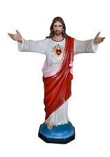 STATUA SACRO CUORE DI GESU' JESUS SACRED HEART Vetroresina cm.150. 60 inch