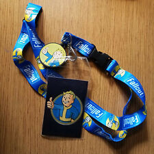 Fallout Boy Blue lanyard with Charm and holder