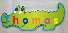 Wooden Name Thomas Puzzle Personal Christening / Naming Gift