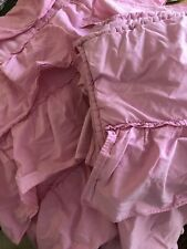 Pottery Barn Kids Queen Comforter Full Comforter Two Pillow Girls Pink Ruffle