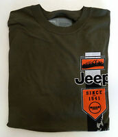Jeep Brand T Shirt Coverage Outerwear Jeep Since 1941. Color Green (B4)