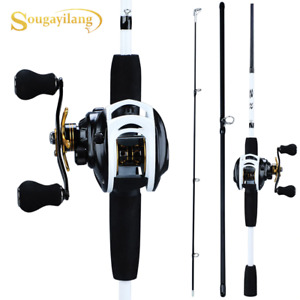 Fishing Rod Reel Combo Portable 3 Sections 175CM Lure Fishing Rod Gear Ratio 9+1