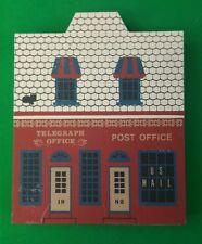 Cat's Meow Telegraph Office Post Office Main St Faline '89 Shelf Sitter