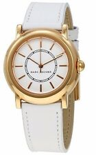 BRAND NEW Marc Jacobs Riley White Leather Rose Gold Tone Ladies Watch MJ8674