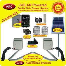 Solar Powered, 12V Double Gate Opening System Jumbo Kit