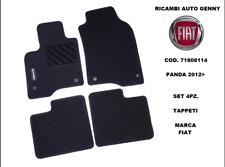 TAPPETI MOQUETTE ORIGINALI FIAT NUOVA PANDA 2012 CON BOTTONI ANT+POST 71808114