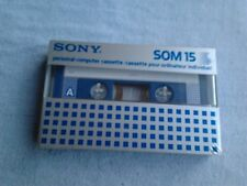 SONY SOM 15 Vintage '80s NEW SEALED Blank Compact Tape cassetta nuova sigillata