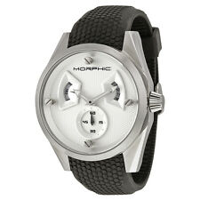 Morphic M34 Series Steel Case Silver Engraved Pattern Dial Mens Watch 3401