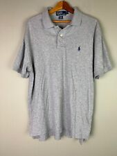 Polo Ralph Lauren S/S Classic Golf Polo Shirt Mens Size M Gray cotton