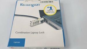 Kensington Combination Laptop Lock Portable  Carbon Steal Cable