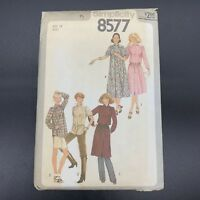 Simplicity Vintage Sewing Pattern #8577 Misses  Pullover Dress or Tunic Size 12