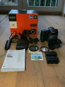 Sony Alpha SLT-A65VK 24.3MP Digitalkamera - Schwarz (Kit mit DT 18-55mm Objekti…