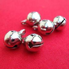 10 Campanellini da 10 mm in metallo Nikel Free - color argento